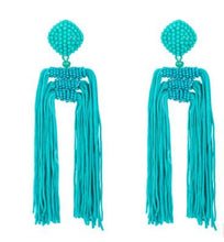 Load image into Gallery viewer, Beads Long Statement Earrings