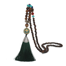 Load image into Gallery viewer, Nepal Beads Tassel Necklace