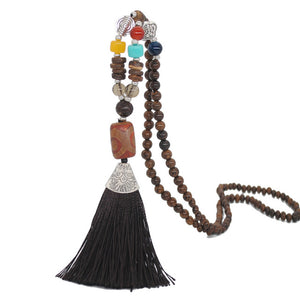 Nepal Beads Tassel Necklace