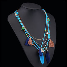 Load image into Gallery viewer, Multilayers Beaded Chain Necklace