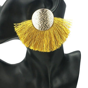 Wide Tassels Earrings