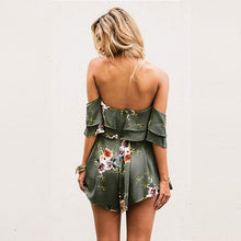 Load image into Gallery viewer, Boho Style Floral Print Jumpsuit