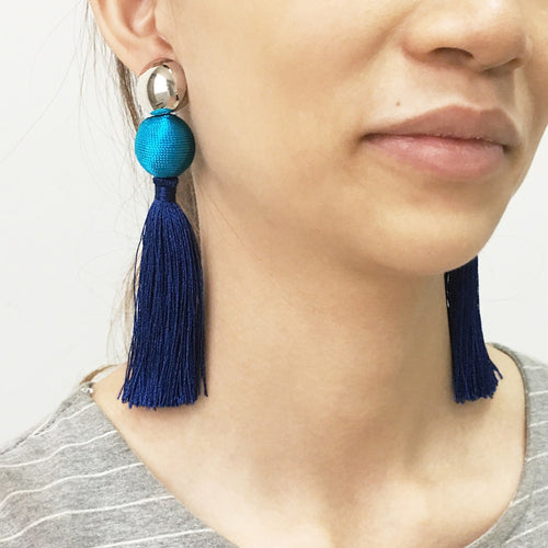 Bohemian Cotton Tassels Earring