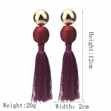 Load image into Gallery viewer, Bohemian Cotton Tassels Earring