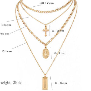 Cross Virgin Chain Necklace