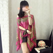 Load image into Gallery viewer, Fashion Floral Chiffon Blouses