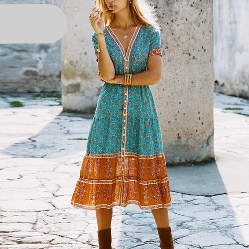Hippie Bohemia Women Dress