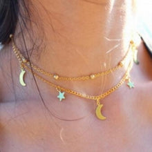 Load image into Gallery viewer, Star Moon Pendant Necklace