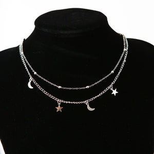 Star Moon Pendant Necklace