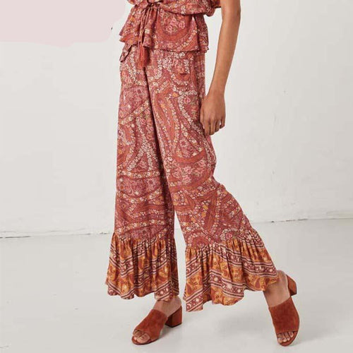 Paisley Floral Bottom Pants