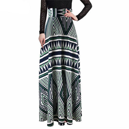 High Waist Maxi Elegant Skirt