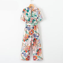 Load image into Gallery viewer, Women Bohemian Floral Jumpsuit