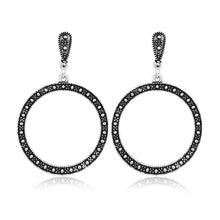 Load image into Gallery viewer, Retro Big Circle Dangle Earrings