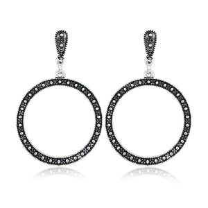 Retro Big Circle Dangle Earrings