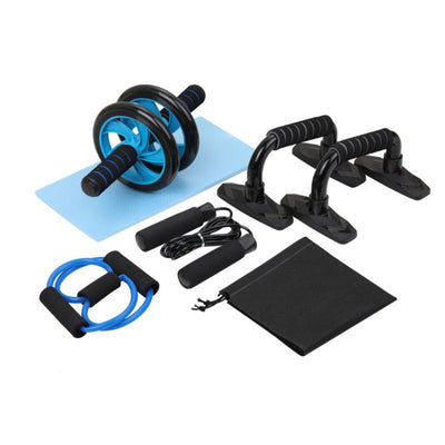 Pole Fitness Conditioning Set Ab Roller, Pushup Blocks, Skip Rope, Tension Bands Workout Equipment