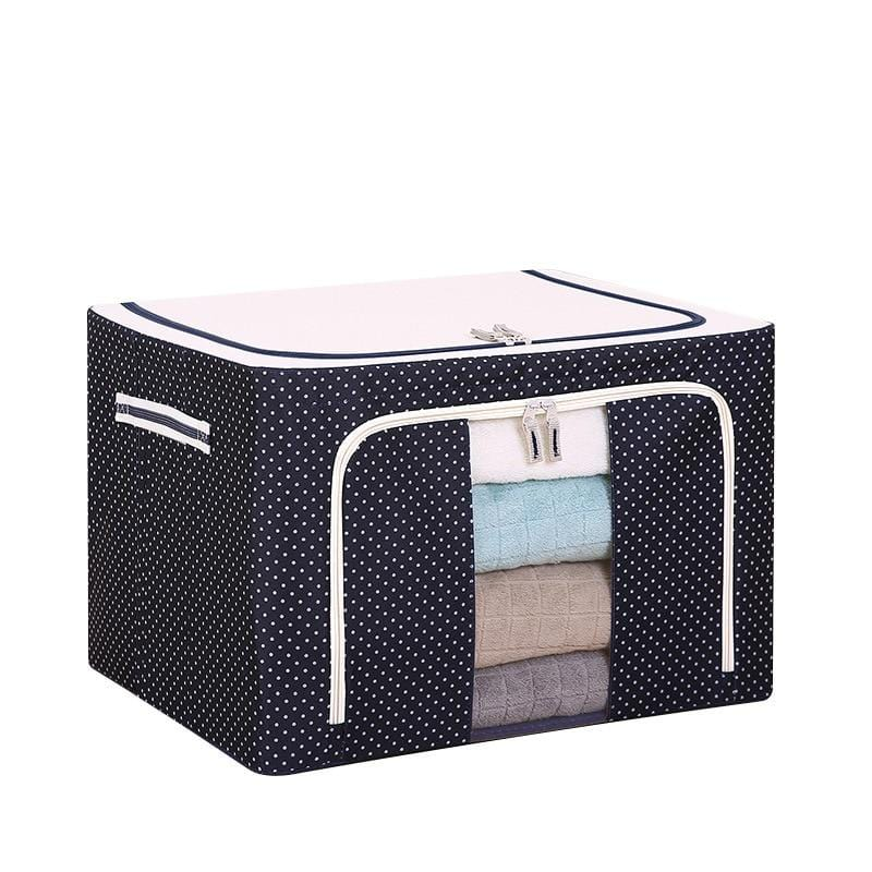 Foldable Organizer Box With Side Zipper For Easy Access
