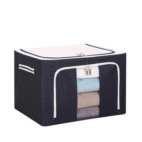Image of Foldable Organizer Box With Side Zipper For Easy Access