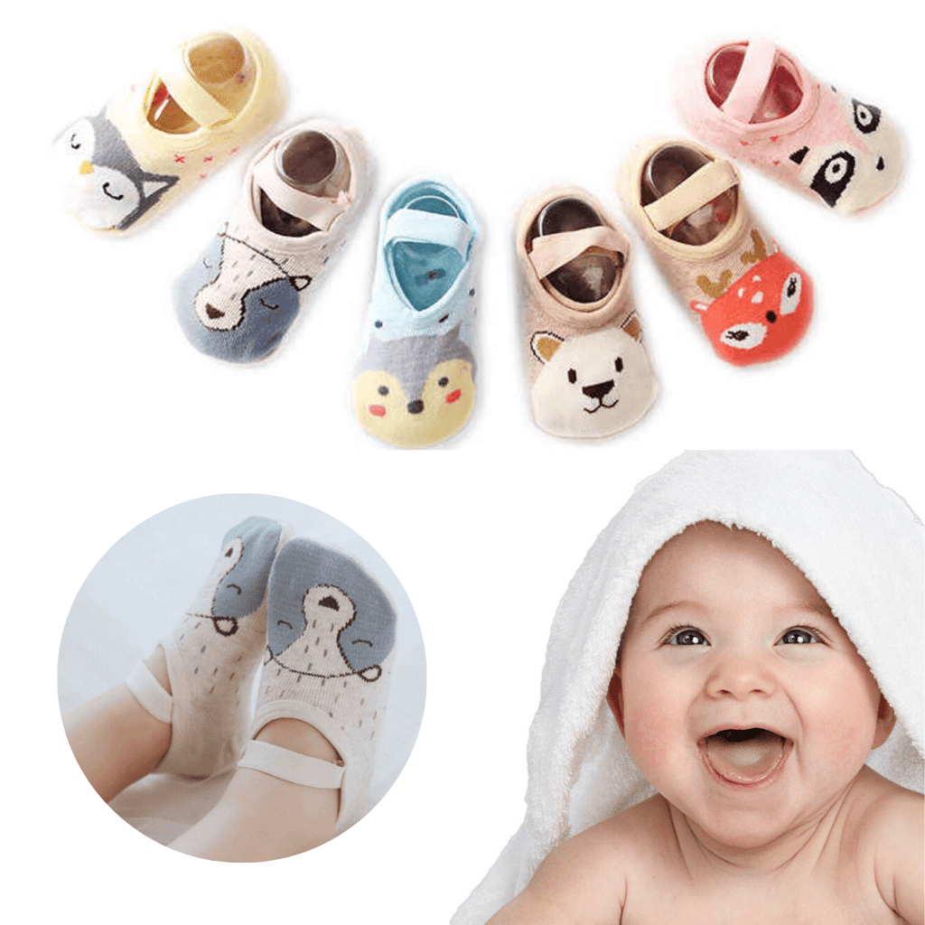 Colorful tootsies™ - Anti Slip Baby Socks - 12 pack