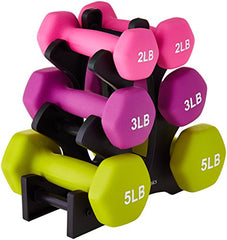 20-Pound Dumbbell Set with Stand, White Lettering