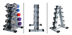 ALBREDA 50*50 Iron pipe ABS Plastic Dumbbell rack Gym dumbbell barbell