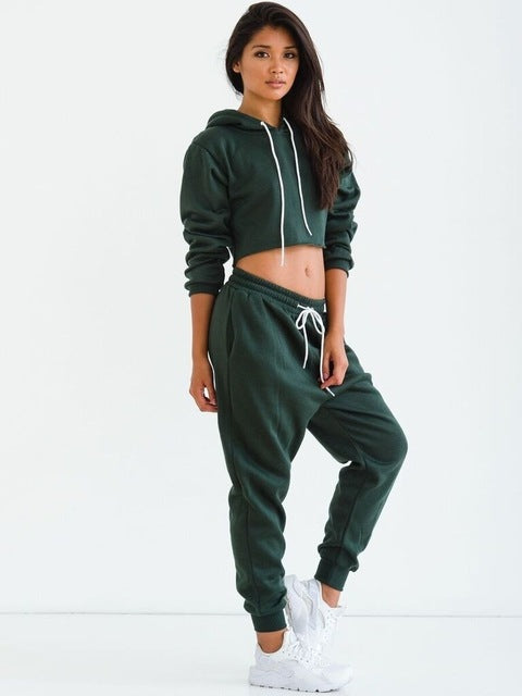 Tracksuit Cropped Top And Pants