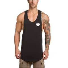 Cotton Male Tank Tops gyms Clothing Bodybuilding sleeveless t shirts