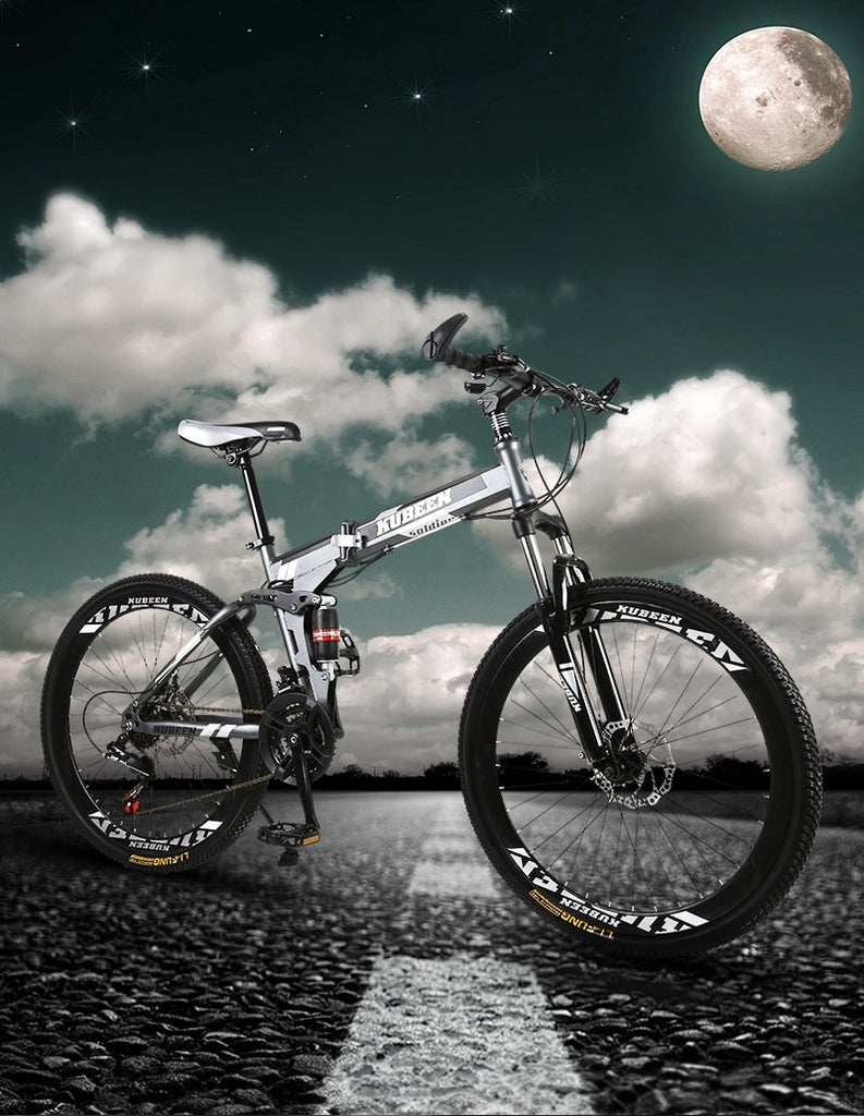 KUBEEN mountain bike 26-inch steel 21-speed bicycles dual disc brakes variable