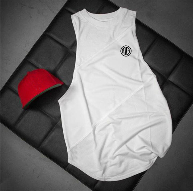 Men Bodybuilding Tank Top with hooded Sleeveless Shirt