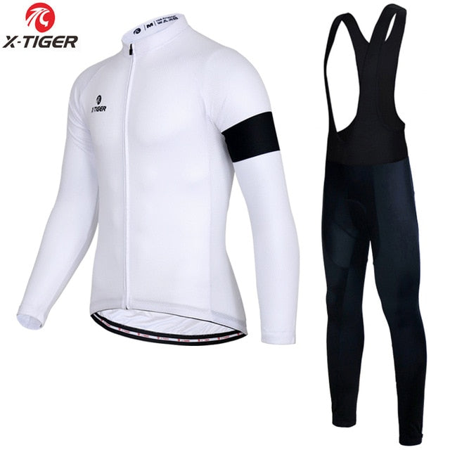 X-Tiger Autumn Long Sleeve Cycling Clothing Set Breathable