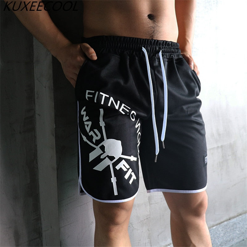 Bodybuilding Sweatpants Fitness Short Jogger Casual Gyms Men big size Shorts