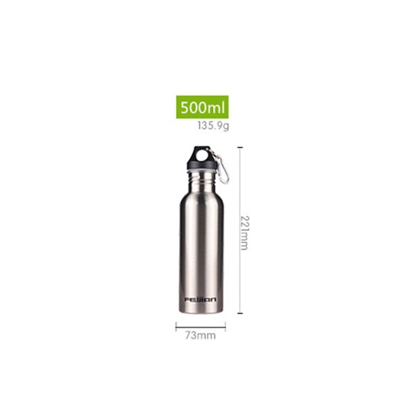 Stainless Steel Flask Wide Mouth Jar Leak-proof Canteen 500mL 750mL 1000mL 1800mL 1.8L