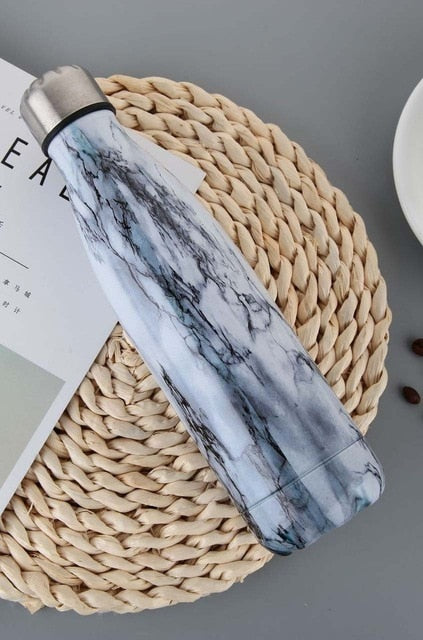 New Marble texture 350ml&500ml Stainless Steel Water Bottle
