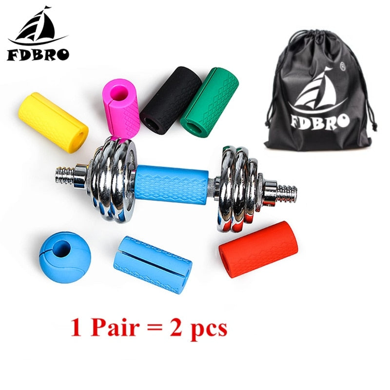 FDBRO 1 Pair Thick Bar Handles Pull Up Weightlifting Support Anti-Slip Protect Pad