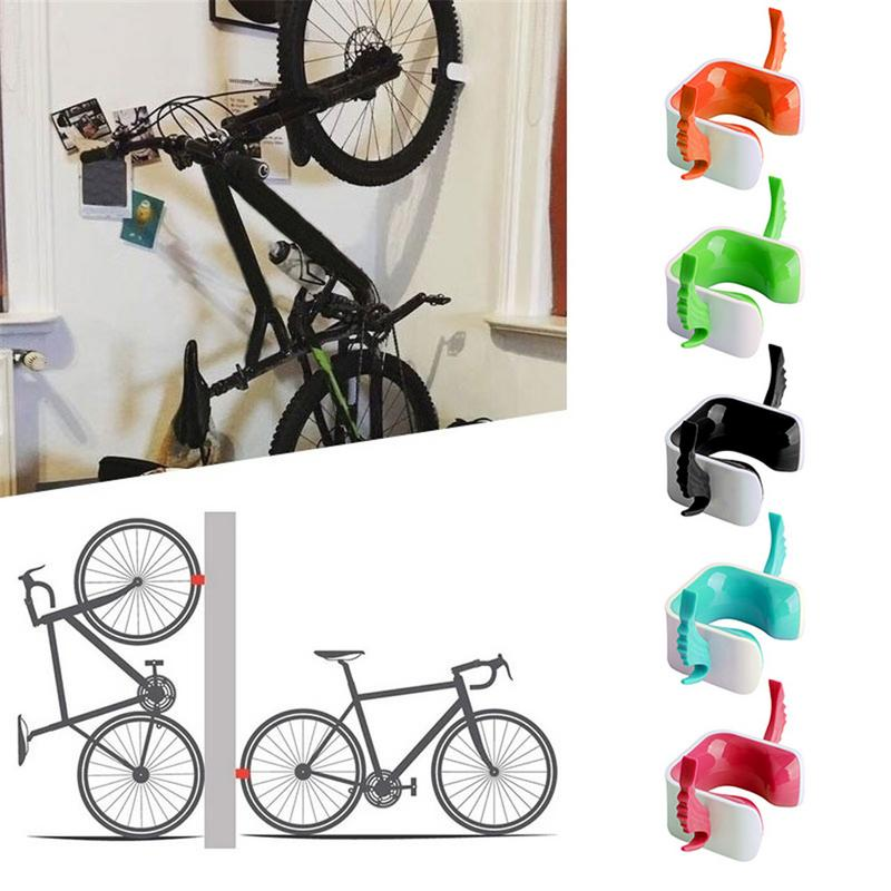 1pc Mountain Road Bicycle Rack Bike Holder Tire Support Stand Mount Wall Parking Clamp