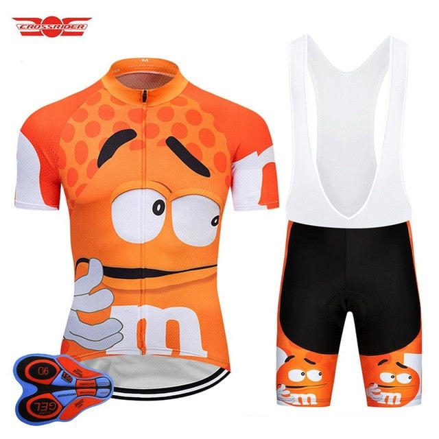 Crossrider Funny Cycling Jersey MTB Mountain bike Clothing Men Short Set