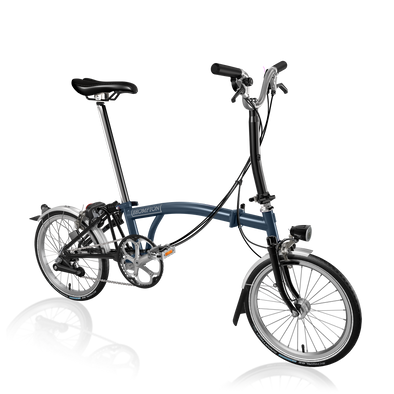 Brompton folding bike M6L Tempest Blue, Black
