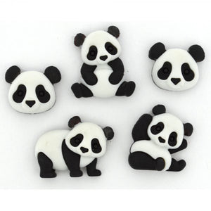 Dress It Up - Panda Pile Buttons