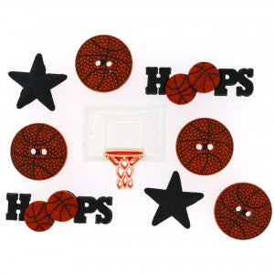 Dress It Up- Basketball Buttons