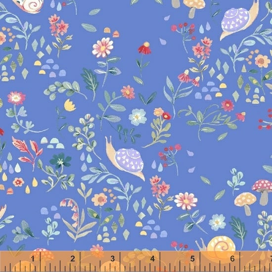Windham Fabrics - My Imagination - Snail Blue