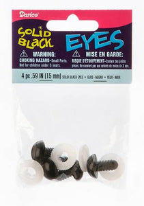 Animal Eye Safety 15mm Black 4 pieces # 51615