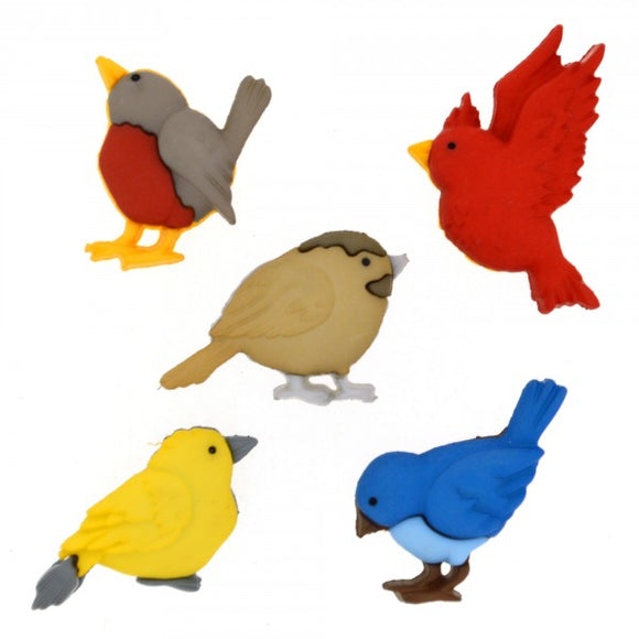 Dress It Up- Feathered Friends Buttons