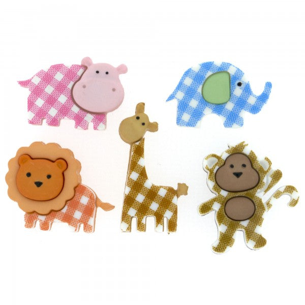 Dress It Up - Baby Safari Buttons