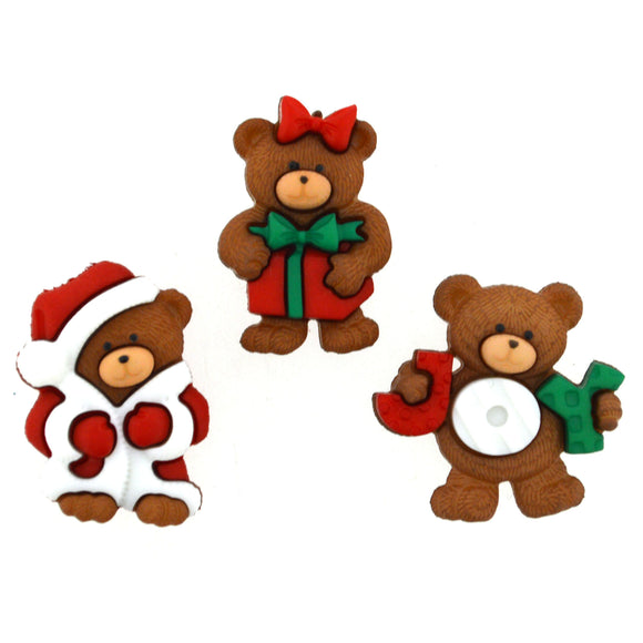 Dress It Up - A Beary Merry Christmas Buttons