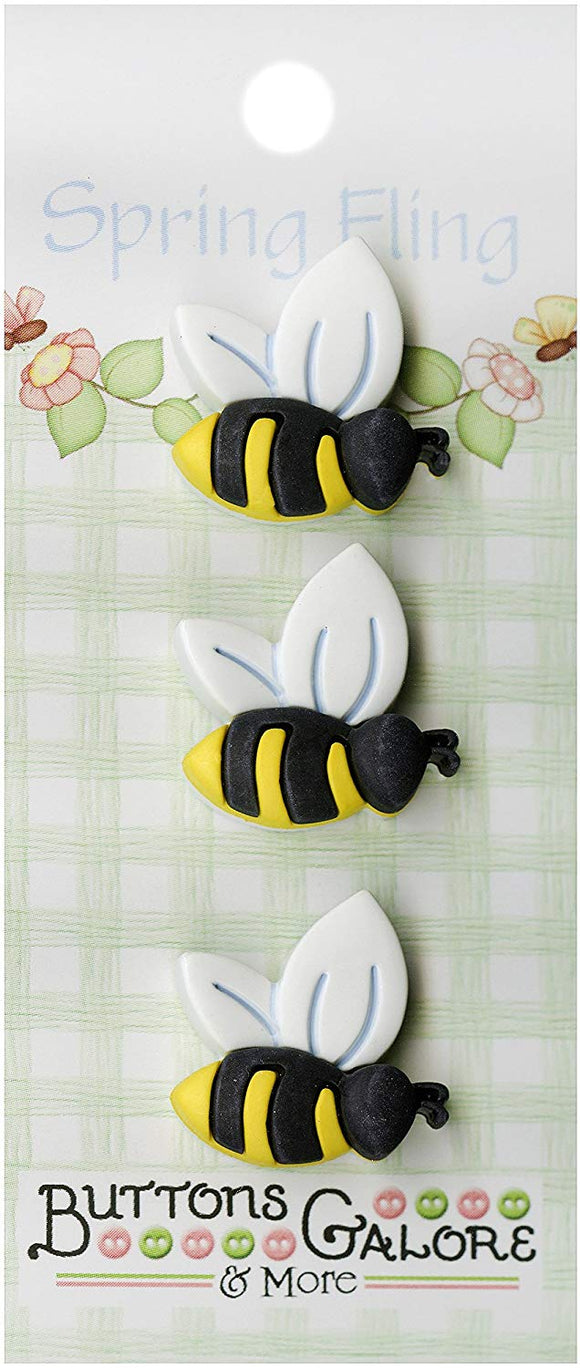 Button Galore - Bees Spring Fling Buttons
