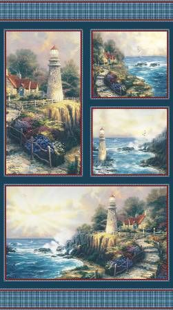 Light House Panel Thomas Kincaid 24 inches by 42 inches