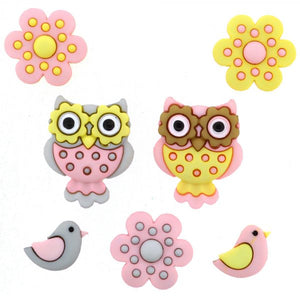 Dress It Up - Whooo Loves You Buttons