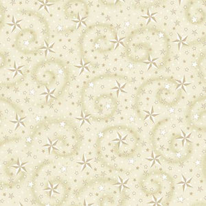 Cream Stars w/Swirl 108in Wide Quilt Back