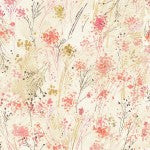 Timeless Treasure - Cream Floral Digitally Printed