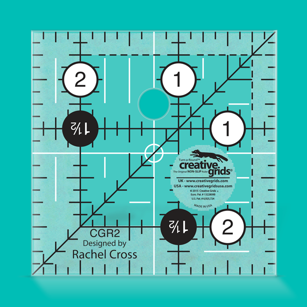 Creative Grids Ruler 2.5 inch Square CGR2