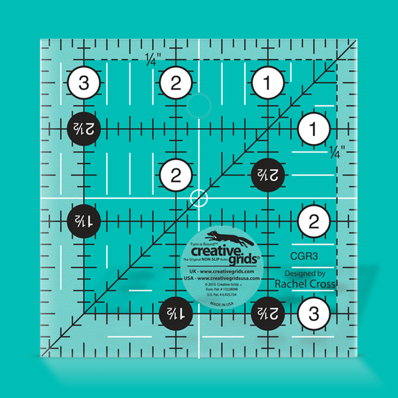 Creative Grids Ruler  3.5 inch square CGR3